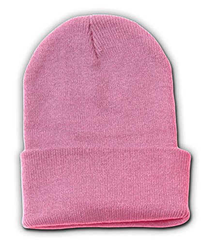 New Solid Winter Long Beanie - Light Pink 1pc (Solid Beanie Long Winter)