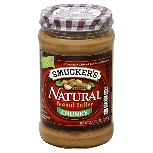 Glass Tri Point (Smucker's Natural Chunky Peanut Butter, 26-Ounce Glass Jars (Pack of 3))