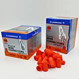 Cambridge Screw-On Wire Connectors Orange 100/Box. BONUS KIT Contains 2 Boxes (200 Pcs Total)