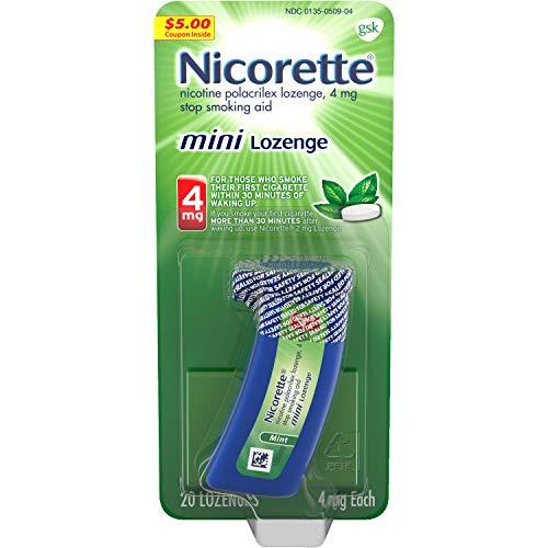 Nicorette Mint Flavored Mini Nicotine Lozenges to