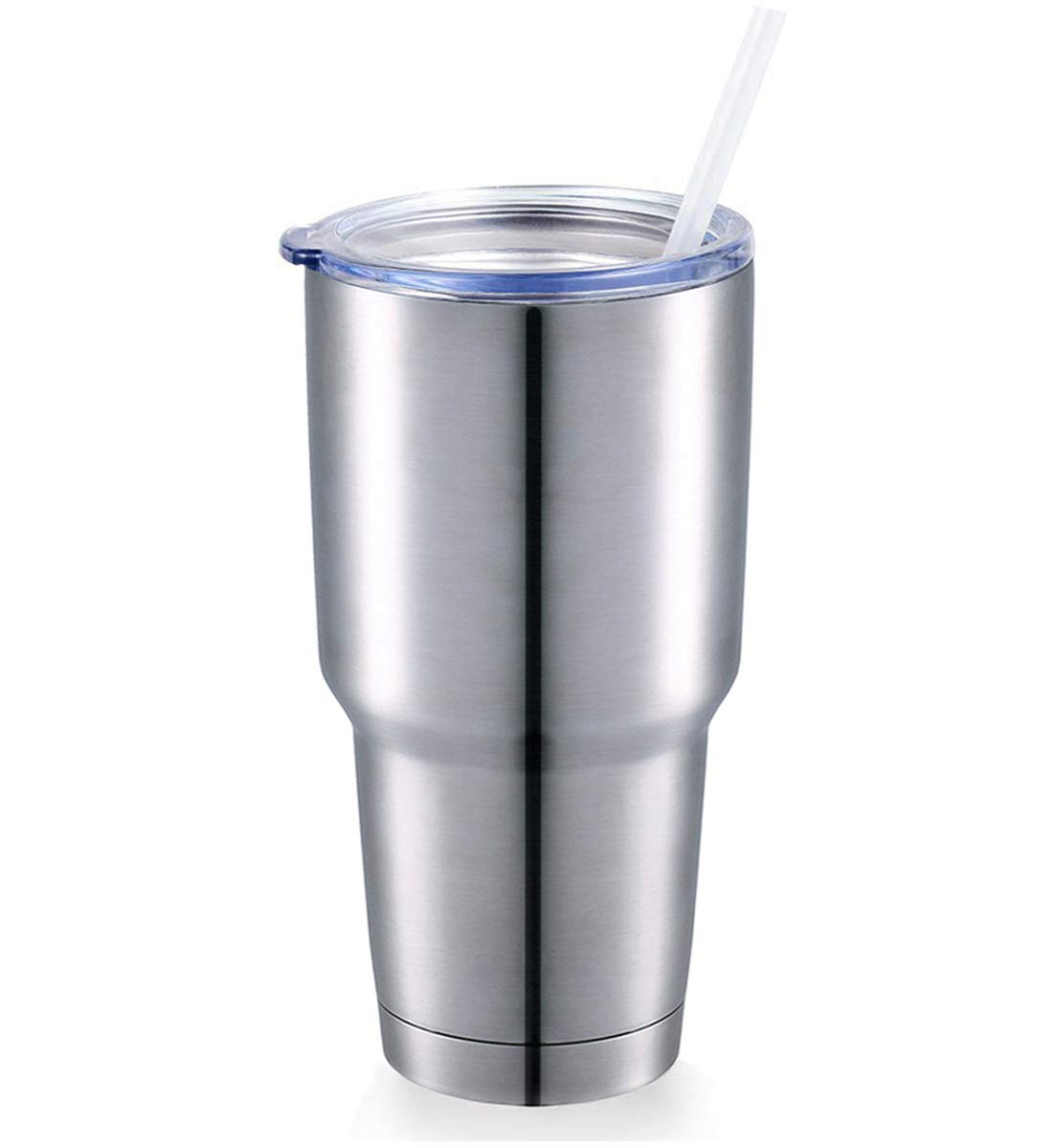 Unibody Stainless Coffee Cup - Classic Vacuum Insulated Tumbler Travel Mug With Lid, Straws