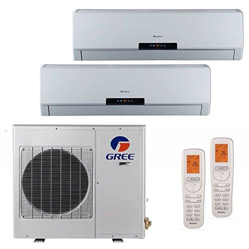 Gree MULTI24BNEO201 - 24,000 BTU +Multi Dual-Zone Wall Mount Mini Split Air Conditioner Heat Pump 208-230V (Dual Unit)