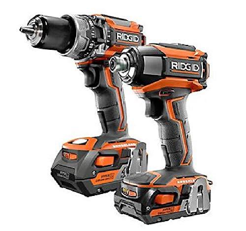 (RIDGID R96171 GEN5X 18V Brushless Cordless Hammer Drill / 3-Speed Impact Driver Combo Kit (2-Tool))