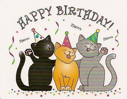 Image result for happy birthday with cats