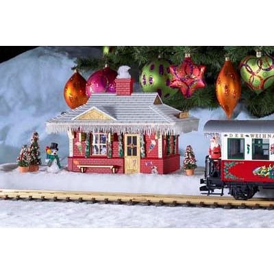 PIKO G SCALE MODEL TRAIN BUILDINGS - NORTH POLE STATION (BUILT-UP) - - Station Scale G Train