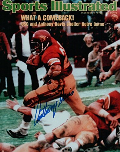 (Anthony Davis Signed 8X10 Photo Autograph USC 1973 Sports Illustrated Auto COA b)