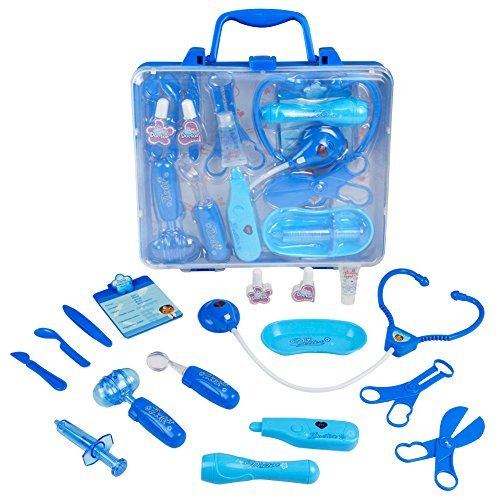 JN Doctor Kit,Pretend Play Medical Kits for Kids Nurse Set Role Play Great Gift for Kids 3+Yeas Old -