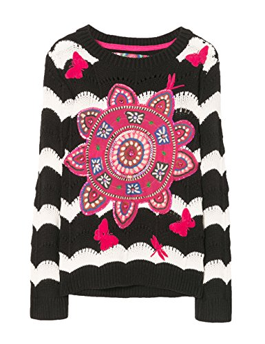 Girl Sweater Desigual Black negro 2000 Jers falubert tqpqxRgABw