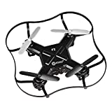 Contixo Mini Pocket Drone 4CH 6 Axis Gyro RC Micro Quadcopter with 3D Flip, Intelligent Fixed Altitude (Black)