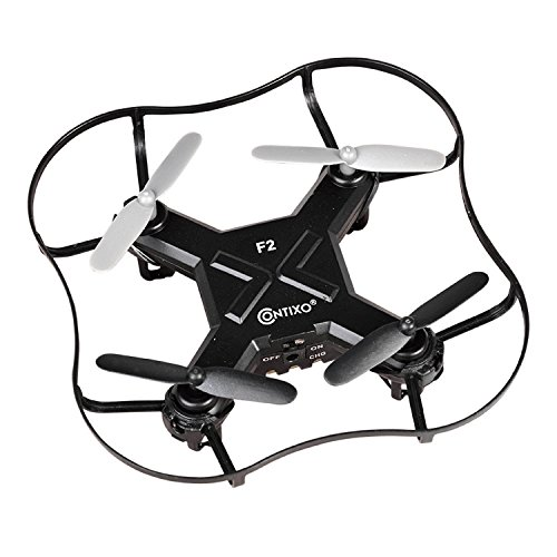 PRESIDENT'S DAY SALE! Contixo F2 Mini Pocket Drone 4CH 6 Axis Gyro RC Micro Quadcopter with 3D Flip, Intelligent Fixed Altitude (Black) - Best Gift