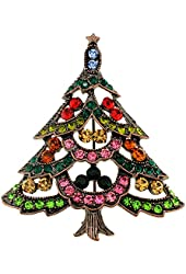 Multi-Color Christmas Tree Pin Brooch