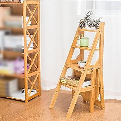 LJHA Silla Taburete Multifuncional de bambú/Madera Maciza Silla Plegable para niños/Escalera doméstica deformable Creativa/Taburete Giratorio 40 * 89 cm Silla Nino (Color : Color Madera): Amazon.es: Hogar