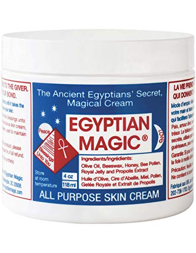 (Egyptian Magic All Purpose Skin Cream | Skin, Hair, Hand/Foot, Eye Cream, Anti Aging, Stretch Marks, Cellulite, Burn Relief, Natural Healing, Etc | 100% Natural Ingredients | 4 Ounce)