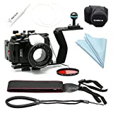 CamDive  40m/130ft Waterproof Underwater Camera Housing for Sony DSC RX100 IV / RX100 III / RX100 V (Housing+Handle+Cover+Filter)