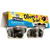 Pearls Olives To Go Black Pitted Olives 1.2 oz 4 pk