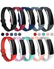 Digitek For Fitbit Alta HR and Alta Strap Band, Bands Strap Silicone for Fitbit Newest Wristband Accessory Fitness Sport Watchbands with Adjustable Metal Buckle Clasp (Black+Dark Blue+Grey#A)