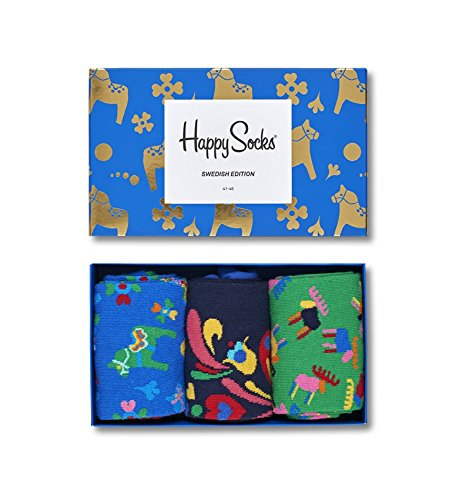Happy Socks - Assorted Colorful Premium Cotton Sock Gift Box for Men and ()