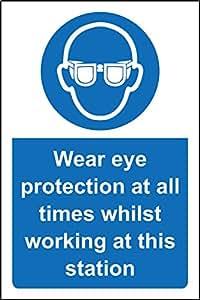 Desgaste protección ocular en todo momento mientras que en este estación de trabajo–3mm compuesto de aluminio 300mm x 200mm
