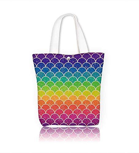 Women's Canvas Tote Handbags Arc en ciel coloré seamless chevron Casual Top Handle Bag Crossbody Shoulder Bag Purse W14xH15.7xD4.7 INCH