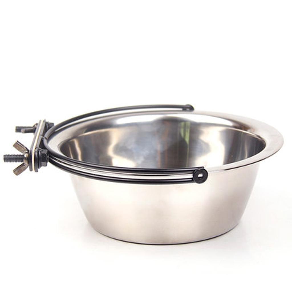 xueyanFijo Bowl perro bowl acero inoxidable cat Bowl mezcla perro jaula del animal doméstico fijada para evitar el malestar , m- diameter 16cm