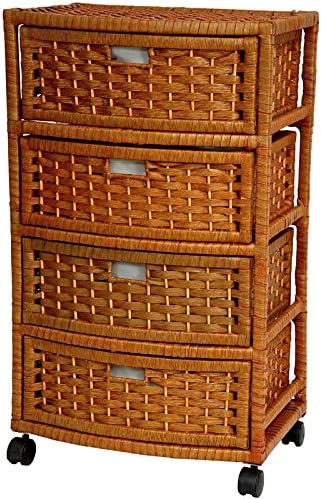 Oriental Furniture 29 Natural Fiber Chest of Drawers – Honey