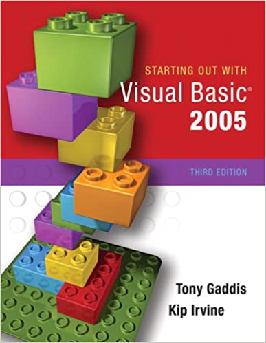 Starting Out With Visual Basic 2008 Pdf