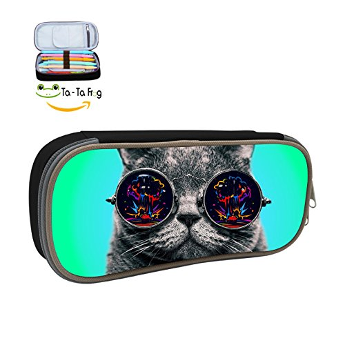 Newest Large Capacity Pencil Case Sunglasses Cool Cats Pen Bags Bag Box - Sunglasses Why Important Are