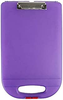 product image for Dexas Clipcase 2 Storage Clipboard with Rounded Handle, Purple