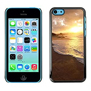 LECELL -- Funda protectora / Cubierta / Piel For Apple iPhone 5C -- Nature Water Sunset --