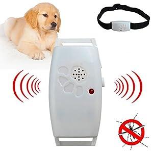 Pet Dog Cat Ultrasonic Pest Anti Flea Insect Repeller Collar Tick Natural Resist