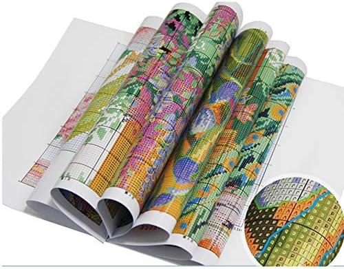 Uccelli dellamore Proumhang 14 CT Kit per Ricamo Fai-da-Te Tovaglia per Ricamo a Punto Croce 2 Fili Aida Canvas Bianco 18x30cm