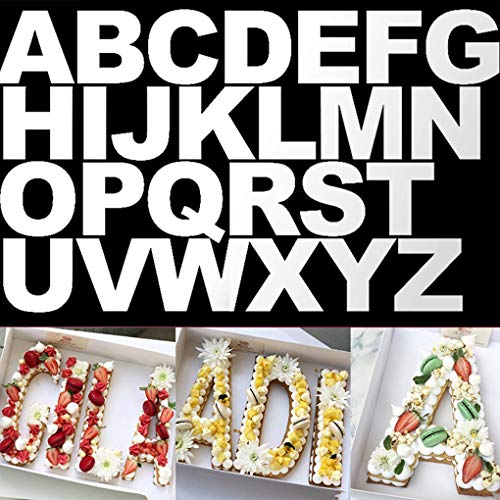 Rolin Roly 26Pcs 10 inch Alphabet Letter Cake Decorating Mold Set for Handmade DIY Cake Mould Valentine