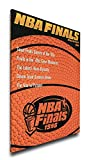 NBA Chicago Bulls 1996 Finals Program Cover on Canvas, 18 x 24-Inch