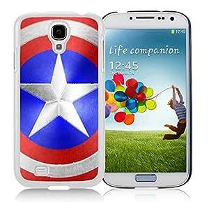 Captain Americas Shield Case For Samsung Galaxy S4 i9500 White