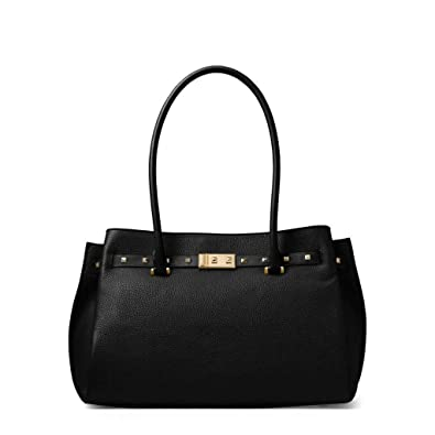 db7577dd9c23 Amazon.com: MICHAEL Michael Kors Addison Large Pebbled Leather Tote -  Black: Shoes