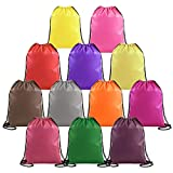 Drawstring Bags Bulk for Kids Boys Girls Birthday Party Faovrs Goodies, Gym Sports Drawstring Bacpacks Cheap Cinch String Backpacks for Soccer Team