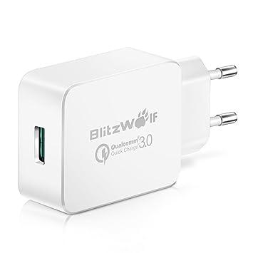 Cargador USB[Qualcomm Quick Charge 3.0],BlitzWolf Cargador ...