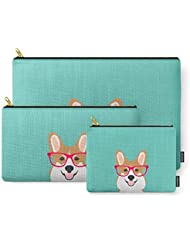 Society6 Teagan Glasses Corgi Cute Puppy Welsh Corgi Gifts For Dog Lovers And Pet Owners Love Corgi Puppies Carry-All...