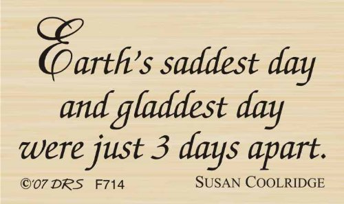 Earth's Saddest Day Easter Greeting Rubber Stamp By DRS Designs