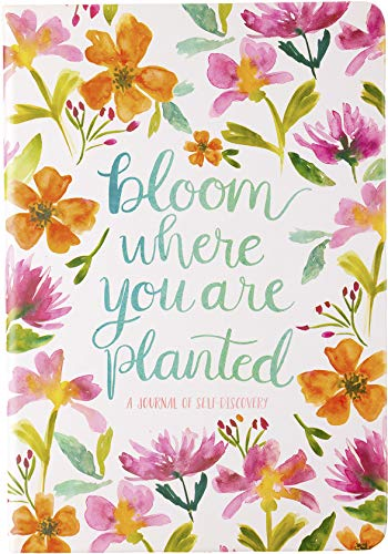 Eccolo Journal 'Bloom Where You are Planted', Nature-Inspired Art & Inspirational Sayings 6x8