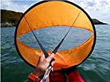 42inch SUP Downwind Wind sail kit,Rowing Boats Wind Fold Up Sail Water Sports kayak accessories Windsurfing Sails, Easy Setup Deploys Quickly, Compact Portable