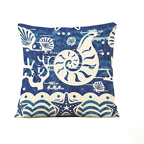Throw Pillows marine life conch Cotton Linen Throw Pillow Cover (18*18 Inch)