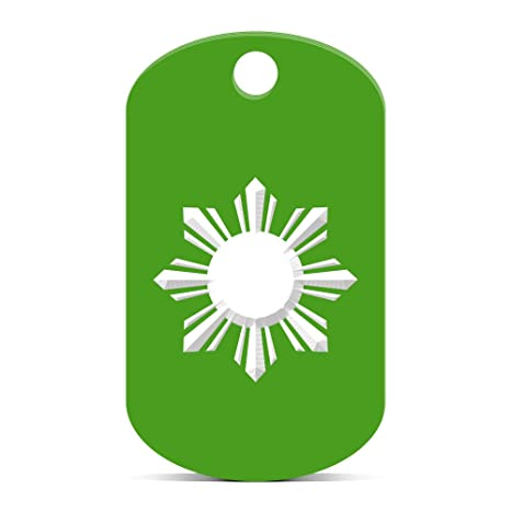 Amazon.com: Bandera de Filipinas Sol Llavero GI Dog Tag ...