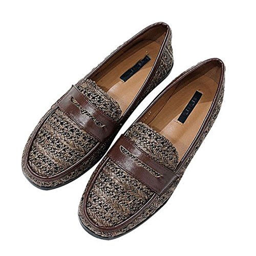 Mocassino Classico Da Donna Mocassino Da Uomo Business Mocassino Punta Quadra Slip-on Casual Mocassino Oxford Scarpe Marrone Scuro