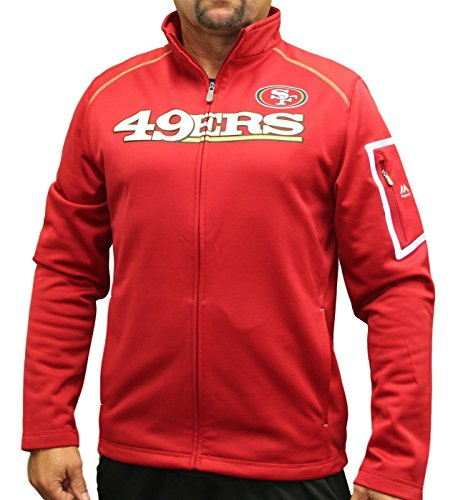 Majestic San Francisco 49ers NFL Teamwork Men's Full Zip Mock Neck Sweatshirt