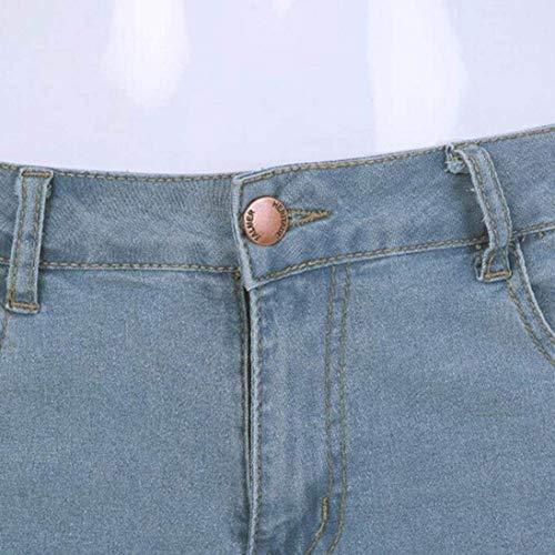 Mitlfuny Pantalones Vaqueros Hellblau Delgados De Vaqueros La Rtes Pantalones Pantalones Vaqueros Hombres Pantalones Rtes Los De Cinta Skinny Rasgados Delgados Elásticos Vaqueros rBpxqYrWg