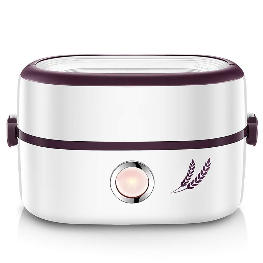 HULUWAWA 蒸気熱炊飯器多機能電気二重セラミックライナー断熱ポータブルミニ電気弁当箱、(未調理)炊飯器 (サイズ さいず : B) B  B07QLT6V3Y