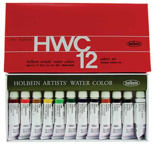 Holbein Artists Watercolor - Holbein Wc W401 Set of 12 5Ml Tubes