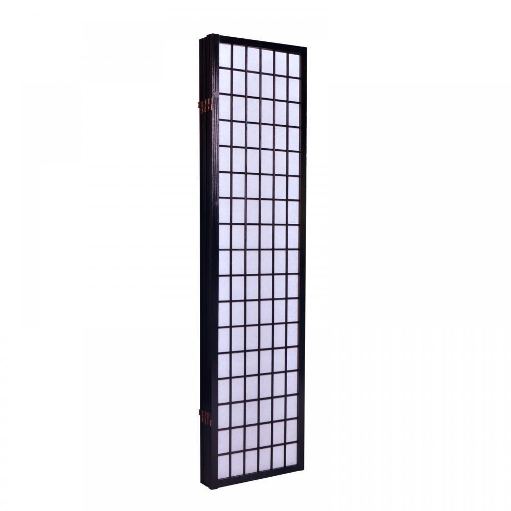 Alitop Cherry 4 Panel Room Divider Screen Oriental Style Shoji Solid Wooden Screen