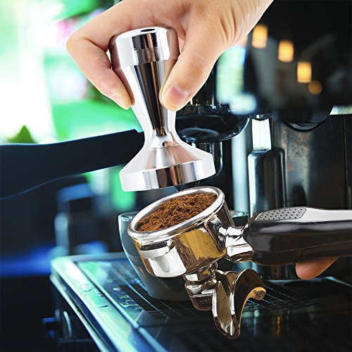 Coffee Tamper Machine,DLAND 51mm Diameter Stainless Steel Flat Base Grip Handle Bean Barista Espresso Tamper pressure Kitchen Accessories